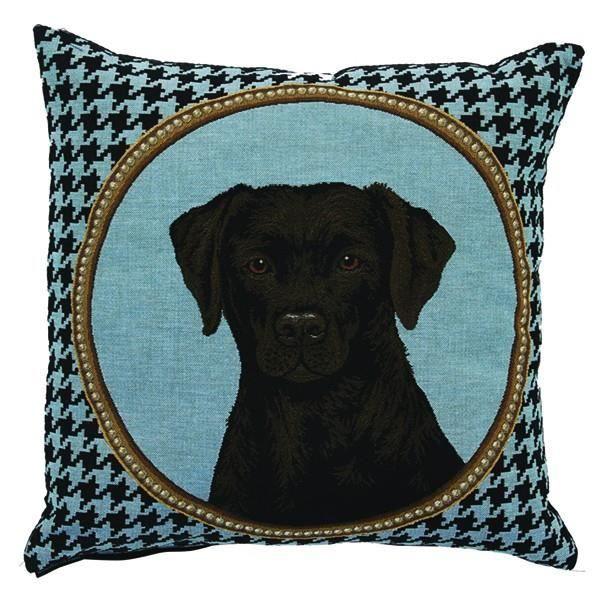 coussin t te de chien labrador bleu 45 x 45 cm achat vente coussin cdiscount. Black Bedroom Furniture Sets. Home Design Ideas