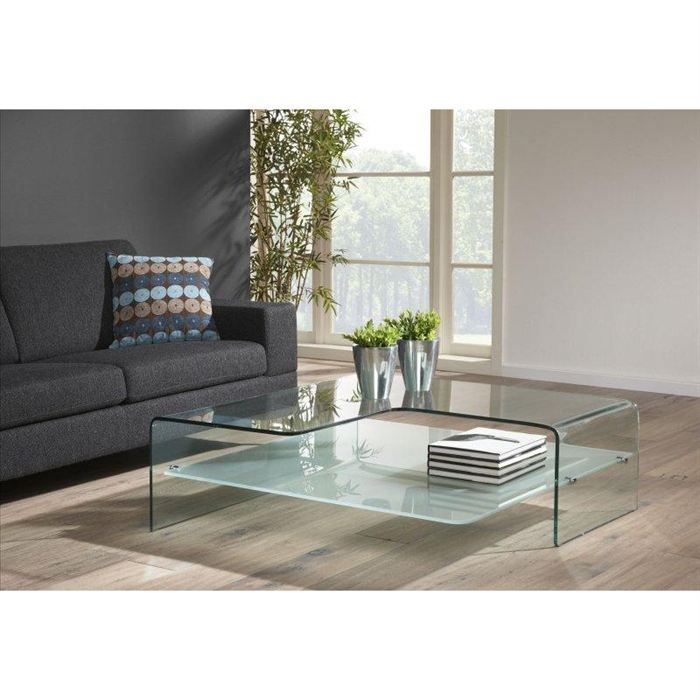 Table basse design wave en verre achat vente table basse table basse desi - Table salon verre design ...
