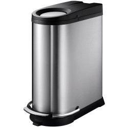Poubelle 2 compartiments acier bross achat vente poubelle corbeille po - Poubelle 2 compartiments ...