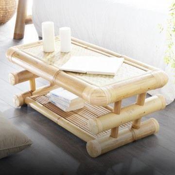 table basse en bambou 100x50 balyss achat vente table basse table basse en bambou cdiscount. Black Bedroom Furniture Sets. Home Design Ideas