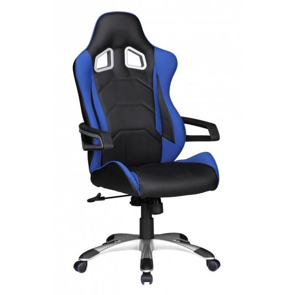 chaise de bureau speed bleu racing chefsessel racer chaise pivotante m canisme synchrone chaise. Black Bedroom Furniture Sets. Home Design Ideas