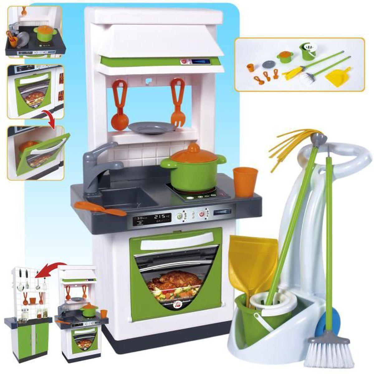 cuisine avec chariot de nettoyage et accesoires achat vente dinette cuisine cdiscount. Black Bedroom Furniture Sets. Home Design Ideas