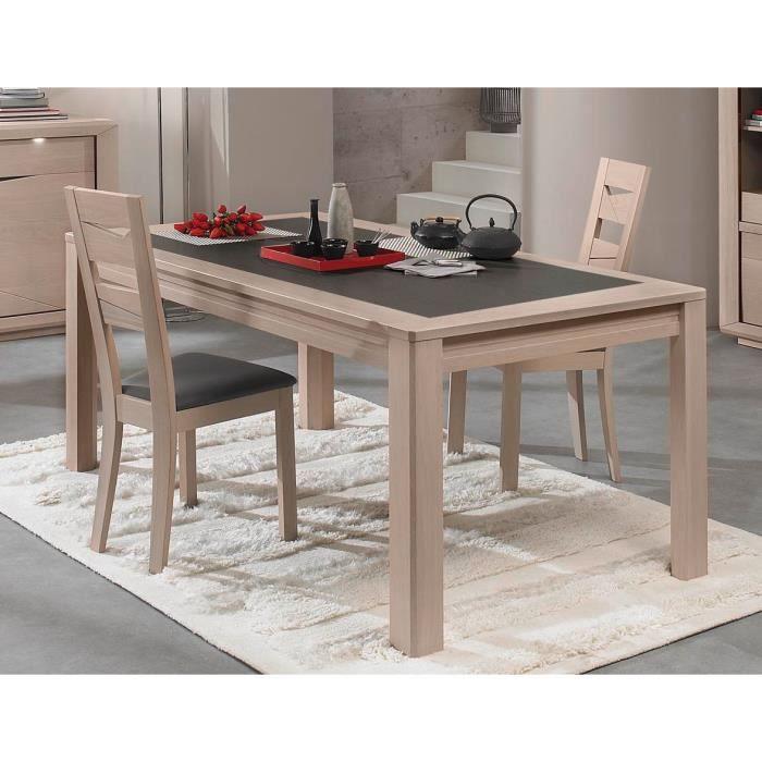 table c ramique monaco ch ne blanchi x x p. Black Bedroom Furniture Sets. Home Design Ideas