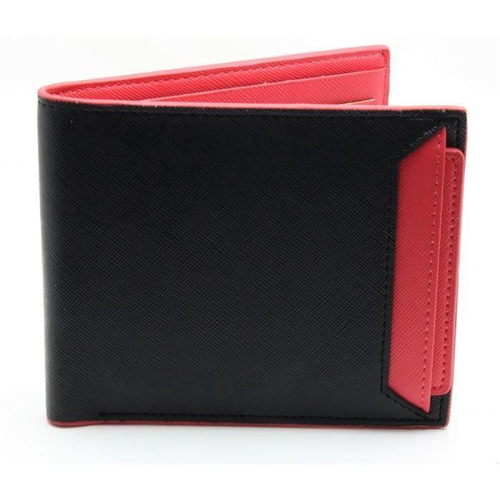 Portefeuille homme avec porte carte amovible rouge achat vente portefeuille 2009945138814 - Portefeuille porte carte homme ...