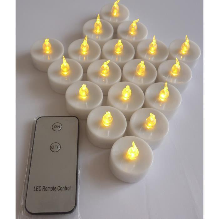 36 bougies led jaune avec t l commande achat vente. Black Bedroom Furniture Sets. Home Design Ideas