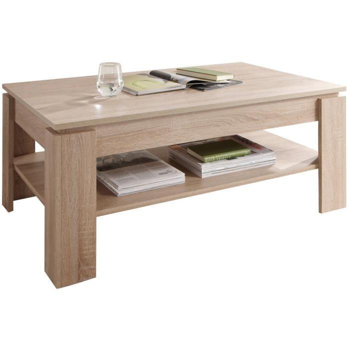 Table basse design coloris ch ne sonoma achat vente for Table basse sonoma