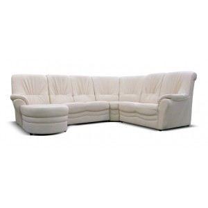Canap d 39 angle 6 places diana blanc achat vente canap sofa divan - Canape 6 places droit ...