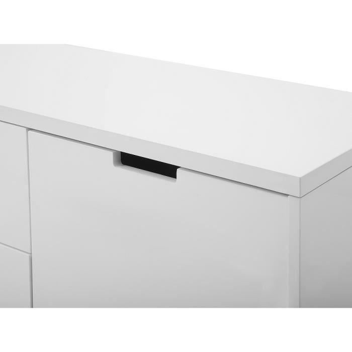 Commode buffet meuble tv blanc seattle achat - Commode meuble tv ...