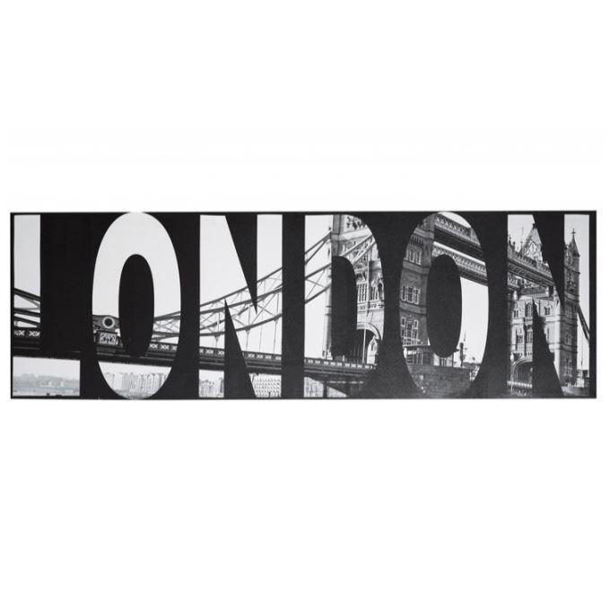 tableau noir et blanc london 45 x 140 cm achat vente