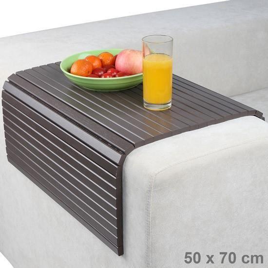 plateau pour canap 50 x 70 cm couleur acier achat vente table a manger seule plateau pour. Black Bedroom Furniture Sets. Home Design Ideas