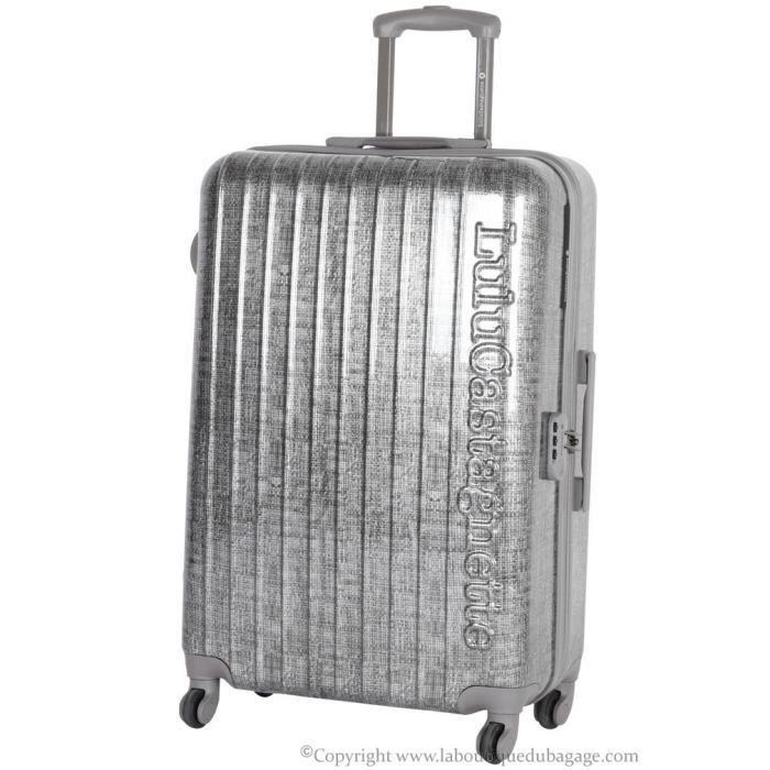 lulu castagnette valise rigide moyen s jour nbl argent gris achat vente valise bagage. Black Bedroom Furniture Sets. Home Design Ideas
