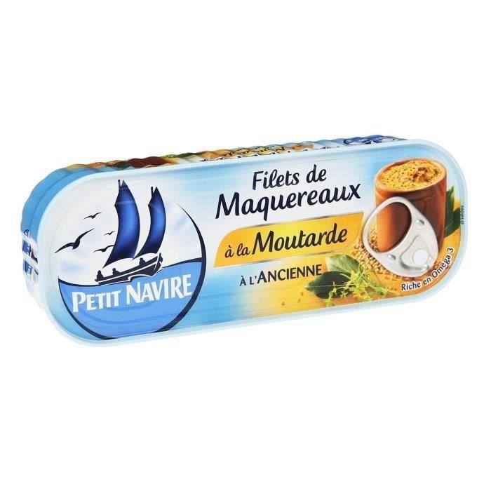petit navire maquereau la moutarde 169g achat vente sardines maquereaux petit navire. Black Bedroom Furniture Sets. Home Design Ideas