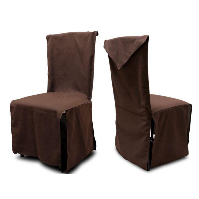 Housse de chaise chocolat - Housse de chaise la redoute ...