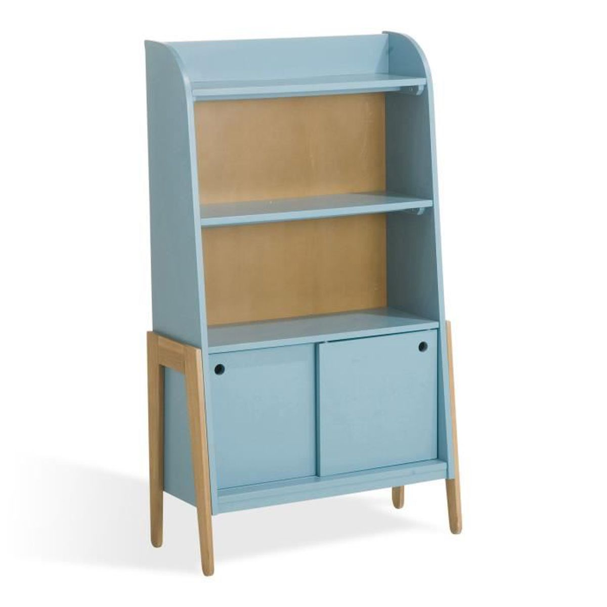 vintage biblioth que vintage bleue pour enfant achat. Black Bedroom Furniture Sets. Home Design Ideas