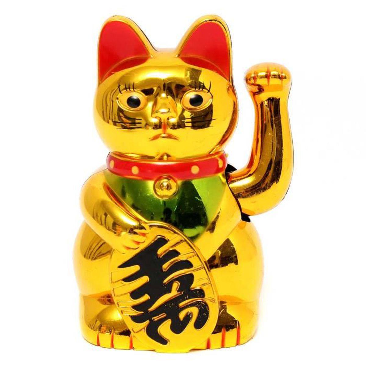 batterie chat chinois saluant porte bonheur patte mouvante aliment 233 bonne chance achat vente