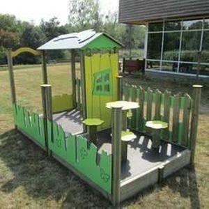 Cabane pour enfant mississippi avec terrasse achat for Cabane minnie