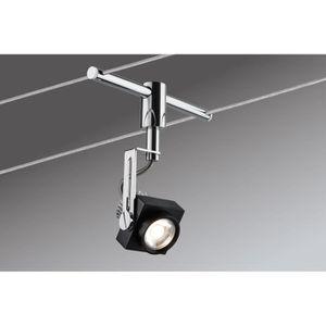 spot sur cable tendu achat vente spot sur cable tendu pas cher les soldes sur cdiscount. Black Bedroom Furniture Sets. Home Design Ideas