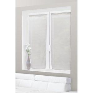 rideaux voilage 60 x 120 achat vente rideaux voilage 60 x 120 pas cher cdiscount. Black Bedroom Furniture Sets. Home Design Ideas