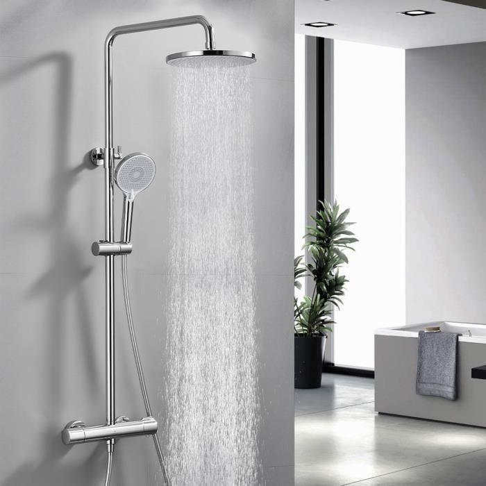 Colonne de douche italienne ecran lcd affichage temps et - Colonne salle de bain cdiscount ...