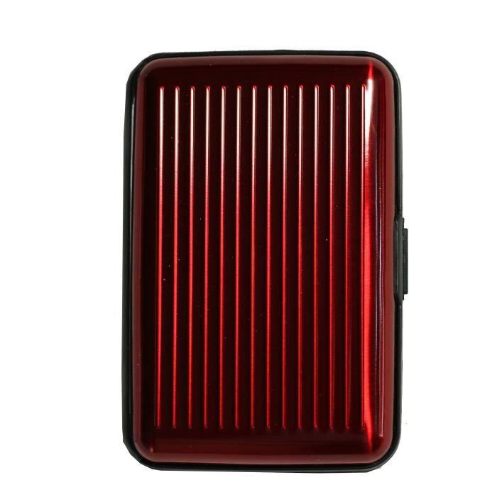 Porte cartes rouge bordeaux rigide en plastique st rouge rouge bordeaux achat vente porte for Achat porte interieur bordeaux