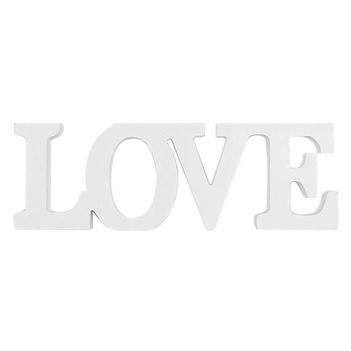 amour mariage bois signe des lettres de decor de mariage d coration jardin achat vente bombe. Black Bedroom Furniture Sets. Home Design Ideas