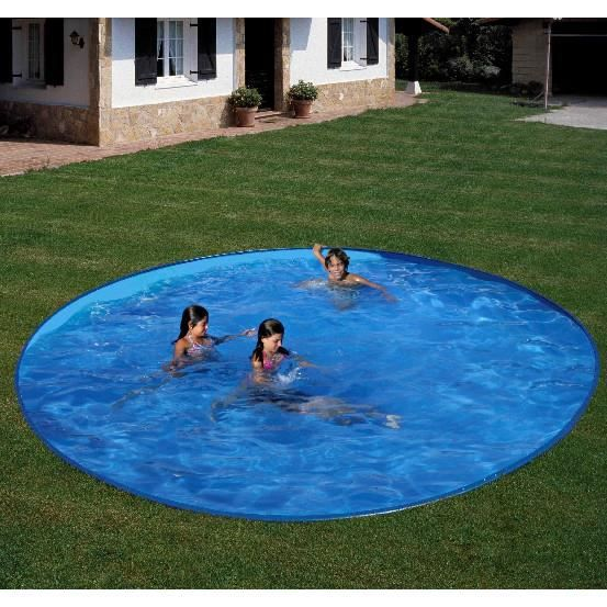 Piscine gre ronde enterr e d350 h120 achat vente kit for Liner piscine 350 x 120