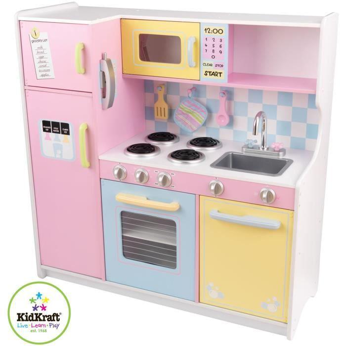 Cuisini re pour enfants avec couvercles de boite de - Fabriquer cuisine bois enfant ...