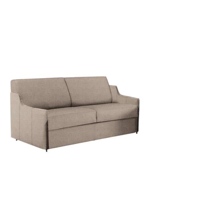 canap convertible luna microfibre beige 140x190 achat vente canap sofa divan m tal. Black Bedroom Furniture Sets. Home Design Ideas