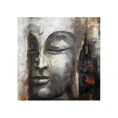 Peinture l 39 huile buddha 100 100cm achat vente tableau toile c - Peinture a l huile achat ...