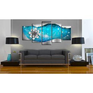 tableau toile fleurs achat vente tableau toile fleurs pas cher cdiscount. Black Bedroom Furniture Sets. Home Design Ideas