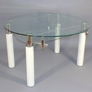 Table extensible ronde achat vente table extensible ronde pas cher sold - Table ronde en verre extensible ...