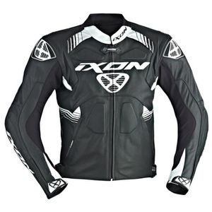 BLOUSON - VESTE Blouson cuir moto IXON VOLTAGE noir blanc