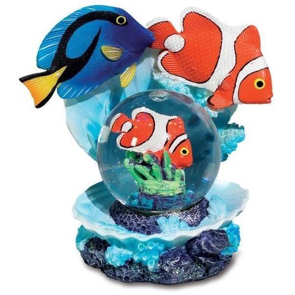 Boule de neige figurine poisson clown et d cor mer achat for Achat poisson clown