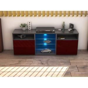 Meuble tv design gris bordeaux led multicolore achat vente meuble tv me - Meuble design bordeaux ...