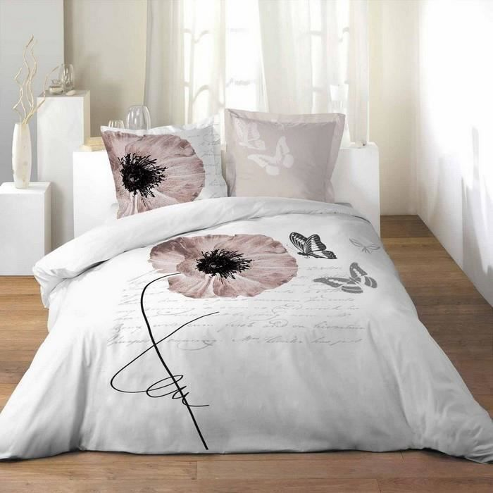 housse couette 240 x 260 cm taies opaline rom achat. Black Bedroom Furniture Sets. Home Design Ideas
