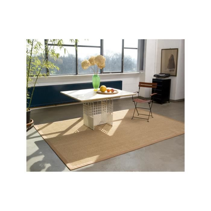 dekowe tapis mara marron clair 80x160 cm achat vente tapis cdiscount. Black Bedroom Furniture Sets. Home Design Ideas