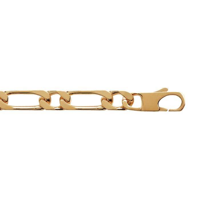 bracelet homme plaqu or 1 1 10mm figaro bijoux en vogue. Black Bedroom Furniture Sets. Home Design Ideas