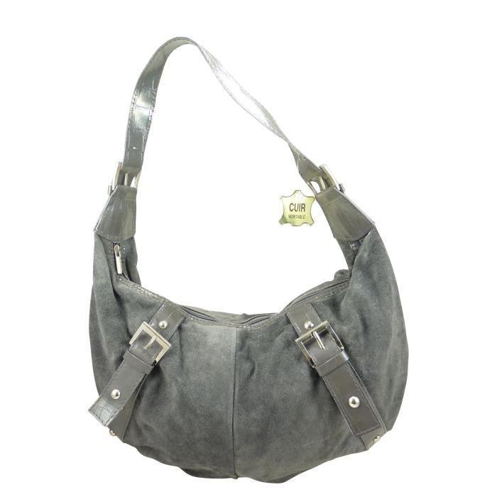 sac main port paule femme en croute de cuir achat. Black Bedroom Furniture Sets. Home Design Ideas