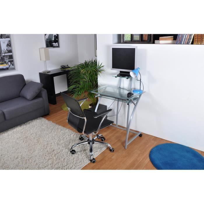 Bureau multim dia gris traba achat vente bureau for Meuble bureau multimedia
