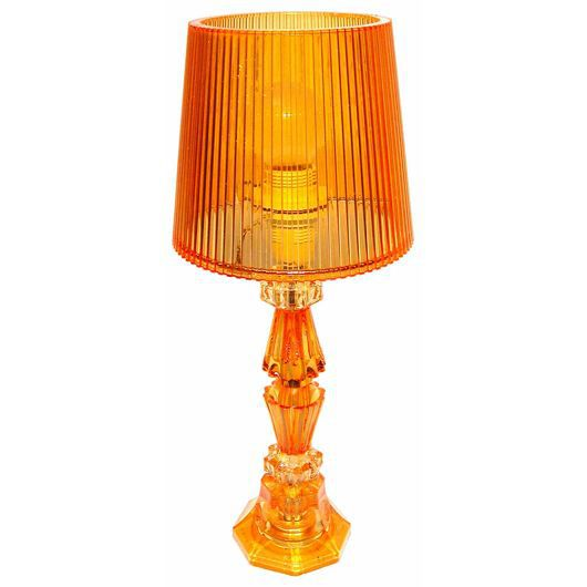 Lampe miss baroque orange achat vente lampe miss for Lampe a poser baroque