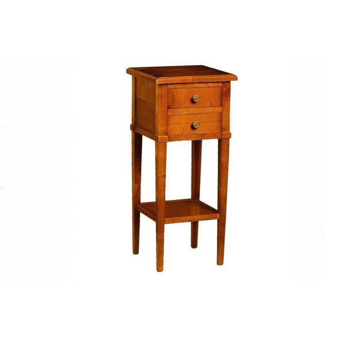 Chevet montmartre 2 tiroirs en merisier achat vente - Table de chevet merisier ...