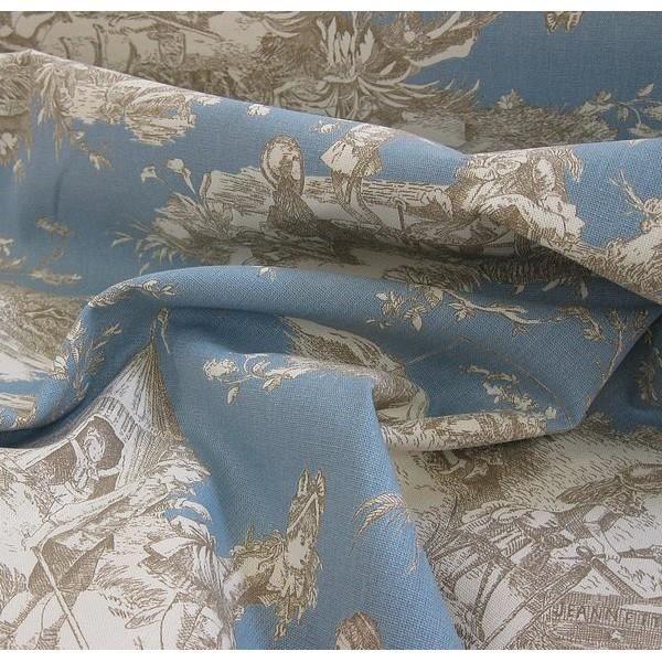 toile de jouy histoire d eau bleu acier achat vente. Black Bedroom Furniture Sets. Home Design Ideas