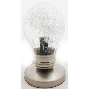 Lampe touch ampoule transparente blanc achat vente for Lampe a poser transparente