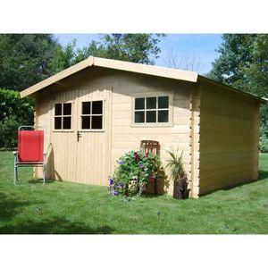 abri de jardin en bois 20m2 achat vente abri de jardin en bois 20m2 pas cher cdiscount. Black Bedroom Furniture Sets. Home Design Ideas