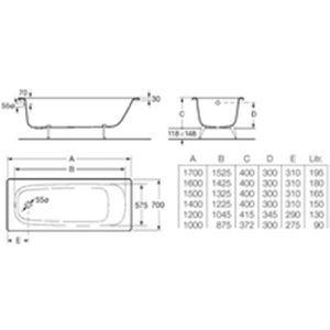 baignoire 120 cm achat vente baignoire 120 cm pas cher. Black Bedroom Furniture Sets. Home Design Ideas