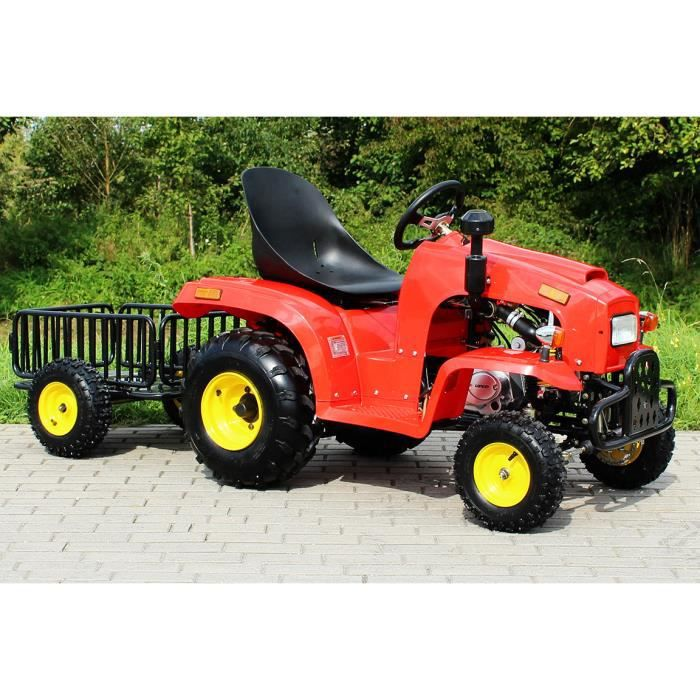Tracteur pour enfant 110 cc avec remorque rouge achat vente voiture enfant cdiscount - Tracteur remorque enfant ...