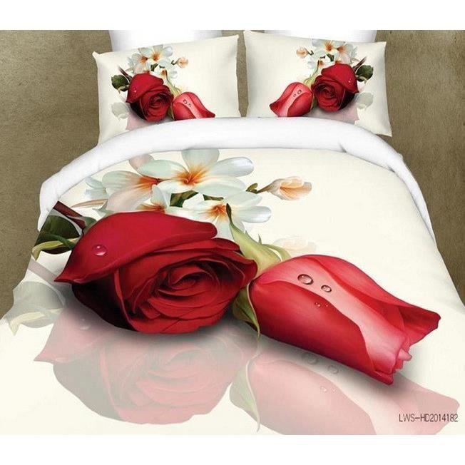 parure de lit personnalis bedcloth 3d 4 pi ces pour lit 2 personnes achat vente parure de. Black Bedroom Furniture Sets. Home Design Ideas