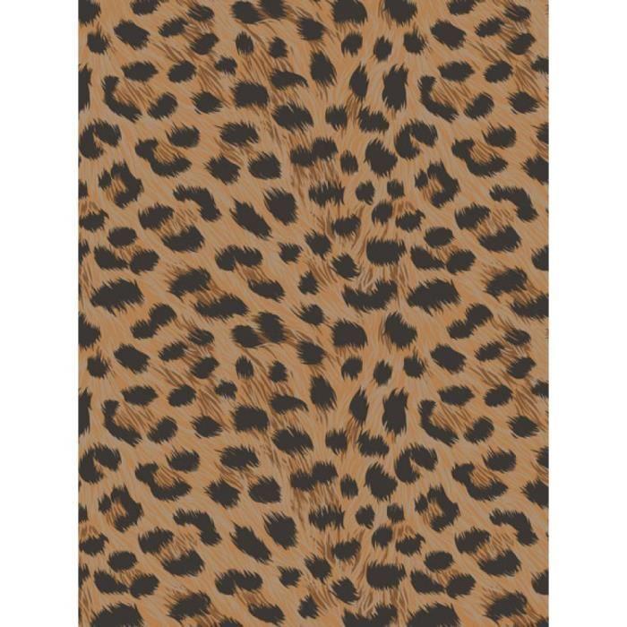 papier peint leopard achat vente papier peint leopard pas cher les soldes sur cdiscount. Black Bedroom Furniture Sets. Home Design Ideas