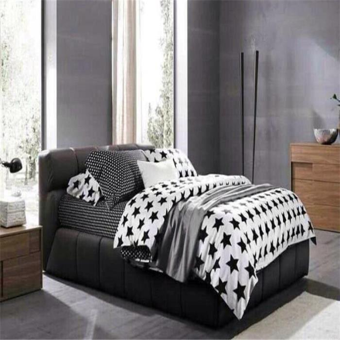 steevy parure de couette microfibre 100 polyester 1 housse de couette 200x230cm feuilles. Black Bedroom Furniture Sets. Home Design Ideas