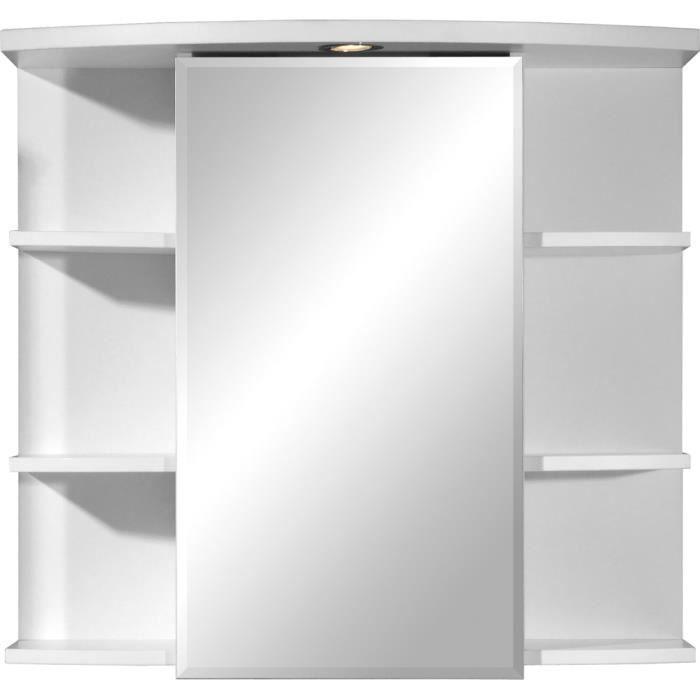 armoire miroir avec porte et tablette coloris b achat. Black Bedroom Furniture Sets. Home Design Ideas